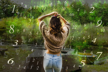 Woman and numerology world
