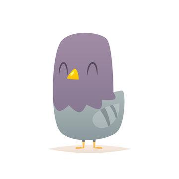 Cartoon pigeon vector isolated illustration