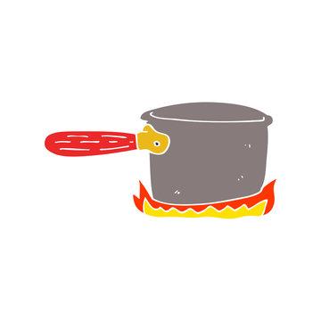 cartoon doodle cooking pan