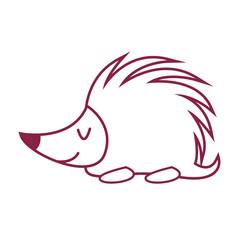 porcupine cute animal cartoon
