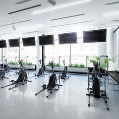 Crosstrainer im Fitness-Zenter (Focus)