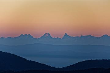 Lever du soleil sur les Vosges