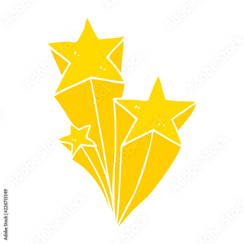 Flat Color Style Cartoon Shooting Stars Stock Image And Royalty