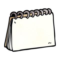 cartoon doodle blank calendar
