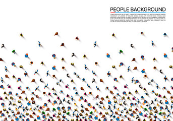 A crowd of people on a white background, Business cover. Vector illustration Wall mural