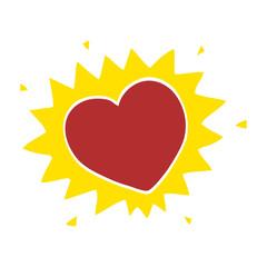 cartoon doodle love heart