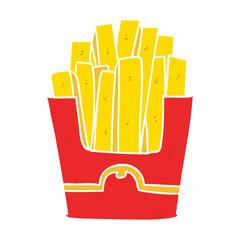 flat color style cartoon junk food fries