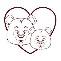 Cute bears cartoon