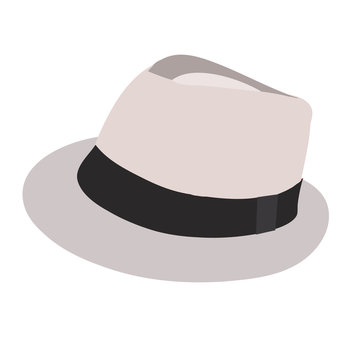 vector, on a white background, men's fashion hat