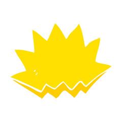 flat color illustration of a cartoon explosion decorative symbol