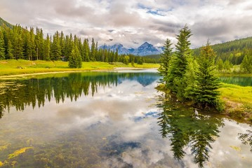 Wall Mural - View at the nature near Vermillion lakes in Banff National Park - Canada