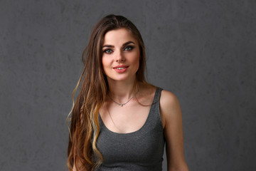 Beautiful european woman portrait