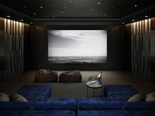 Home Theater room , Luxury interior 3D render