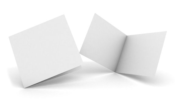 isolated square bifold brochure