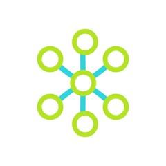 Social network single icon logo