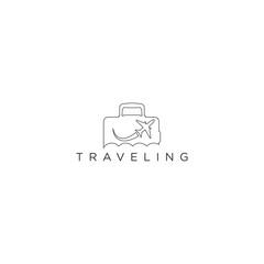 travel logo icon design template vector