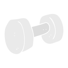 flat color illustration of a cartoon dumbbell