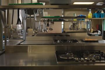 Commercial kitchen at restaurant