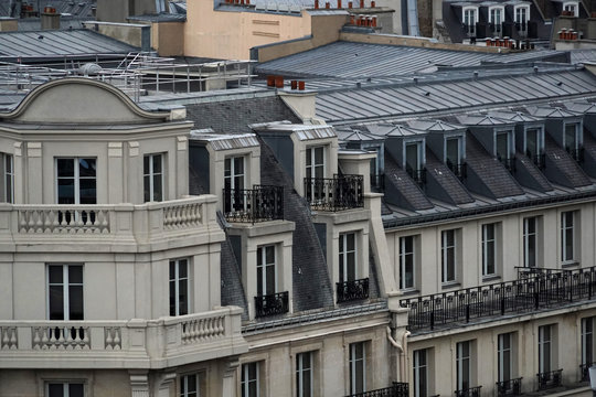 paris roofs chimney and building cityview