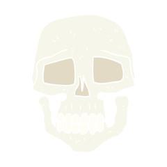 flat color illustration of a cartoon skull