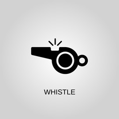 Whistle icon. Whistle symbol. Flat design. Stock - Vector illustration