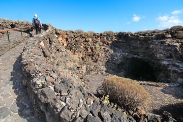 Lanzarote - Outside the Cueva de los Verdes / Canarias ( Spain )