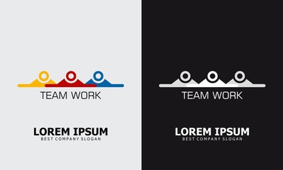 team work icon human logo