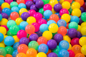 colorful plastic balls for kid activity of indoor playground.