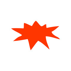 cartoon doodle explosion symbol