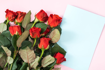 Happy Mother's Day, Women's Day, Valentine's Day or Birthday Flat Lay Background.