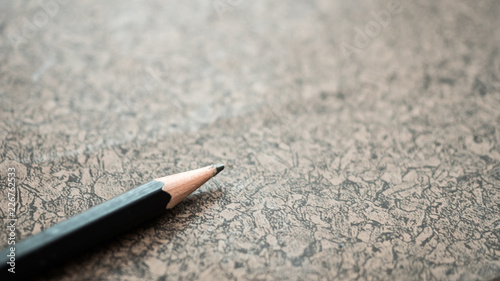 Wall mural pencil close up on wood table