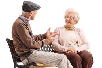 Seniors having a conversation