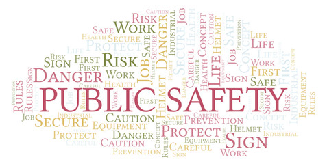Public Safety word cloud.