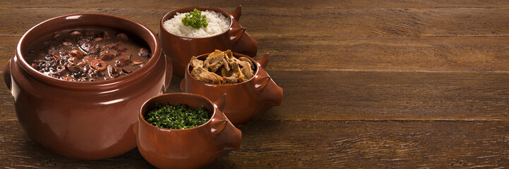 Brazilian Feijoada Food. Outdoor format.