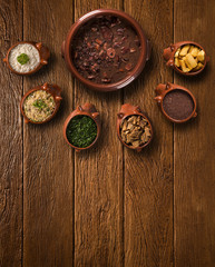 Brazilian Feijoada Food. Top view