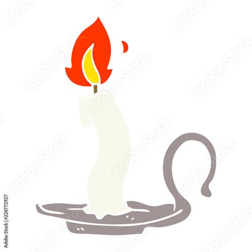 cartoon doodle burning candle