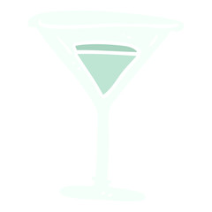 cartoon doodle martini