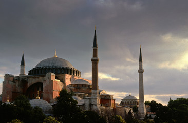 The Aya Sofia Mosque in Istanbul, Turkey