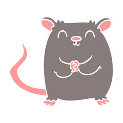 cartoon doodle happy mouse