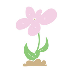 flat color style cartoon flower