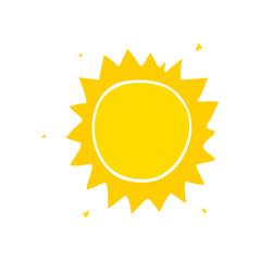 flat color style cartoon sun