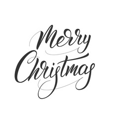 Merry Christmas. Xmas holiday script lettering design