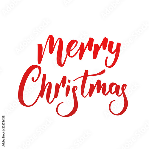 Merry Christmas Lettering.Merry Christmas Lettering Design For Xmas Christmas