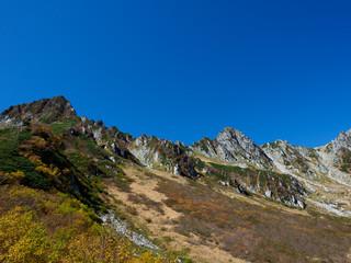 千畳敷から望む宝剣岳など山々
