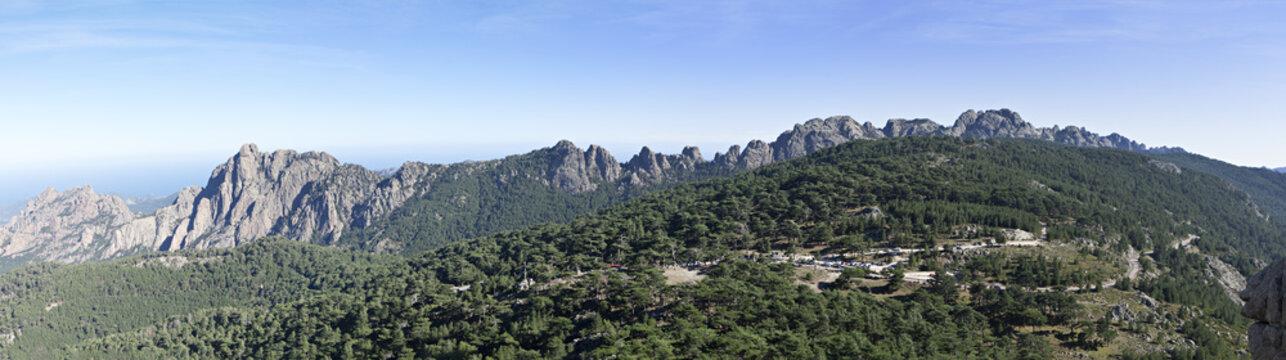 famous corsica mountains range