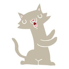 flat color style cartoon cat