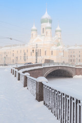 Griboyedov Canal embankment with Church