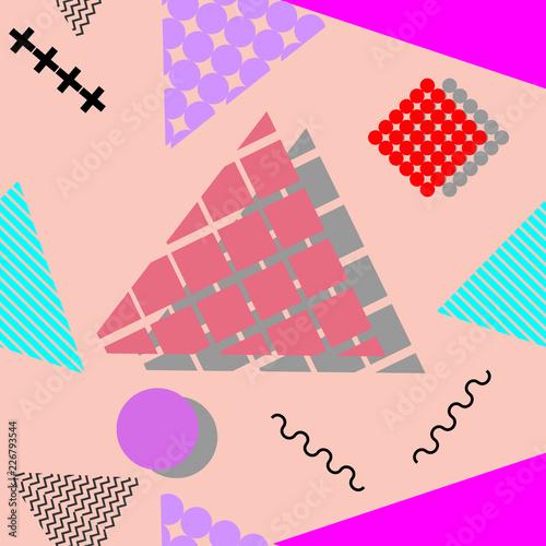 Memphis geometric abstract pattern  Seamless trendy popular