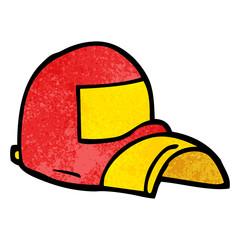cartoon doodle baseball cap