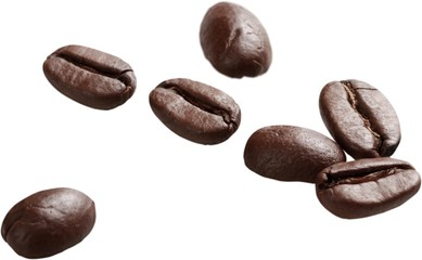 Coffee beans - isolated image